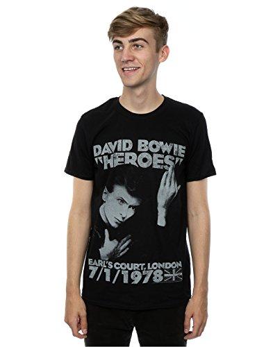David Bowie Men's Earls Court Heroes T-Shirt XXX-Large Black