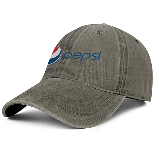 Pepsi New Logo Mens Womens Cowboys Hat Retro Outdoor Funky Hat (Best Food At Mcdonalds For Diet)