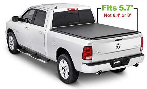 Tonno Pro LR-2020 Lo-Roll Black Roll-Up Truck Bed Tonneau Cover 2009-2018 Dodge Ram 1500, 2010-2018 Dodge Ram 2500, 3500 | Fits 5.7' Bed (Excludes Beds with RamBox)