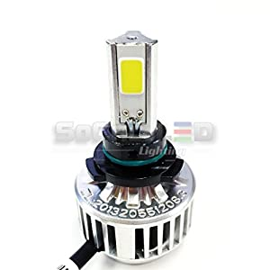 SOCAL-LED H10 (9145) 72W 3Light Automotive LED Bulbs Headlight Conversion Kit 6000K Xenon White Halogen/HID Replacement