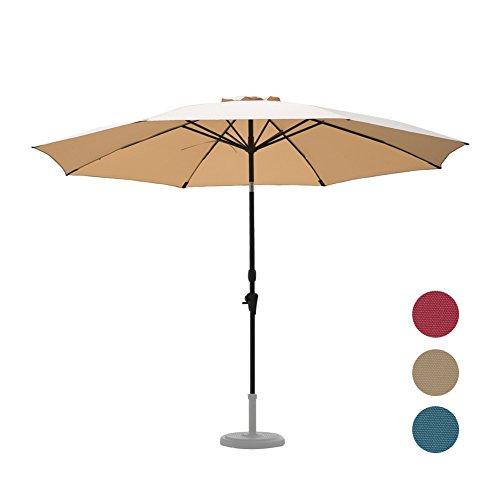 C-Hopetree 11 Foot Patio Umbrella Large Aluminum Auto