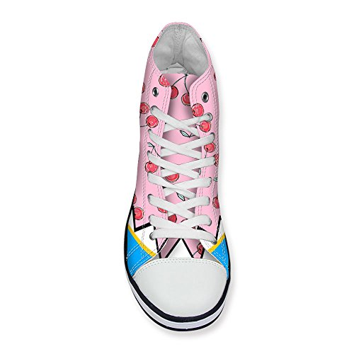 2 Sneakers U High Shoes Top Casual Womens Pink Girls up DESIGNS Lace Stylish FOR qpwgzOO