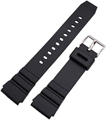 Enjoy Youth 腕時計ベルト ブラック ラバー18mm 時計バンド 交換ベルト 防水