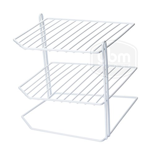 Helper Shelf Cabinet Organizer - YBM HOME Ybmhome 3 Tier Corner Helper Shelf, White Organizer Free Standing Rack for Kitchen Counter Pantry Bathroom and Cupboards 2215 (1)