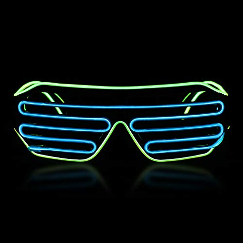hapycity LED Glasses Light Up Glasses Rave Glow Flashing Sunflasses with 3 Modes- Perfect for Halloween Christmas Birthday Party