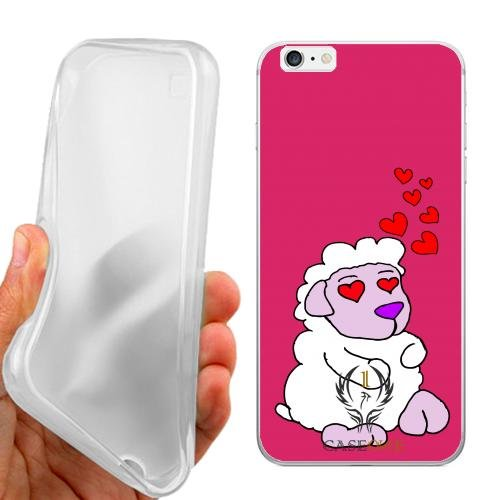 CUSTODIA COVER CASE CASEONE LOVE SHEEP PER IPHONE 6 PLUS