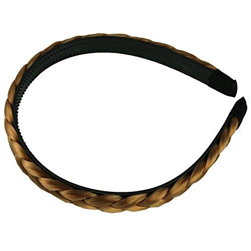 Hot New Women's Hairpiece Headband Belt Plait Hair Extensions (Golded)