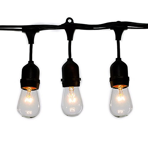 Outdoor String Lights Heavy Duty: Brightown 48-Feet Outdoor Weatherproof Commercial Grade