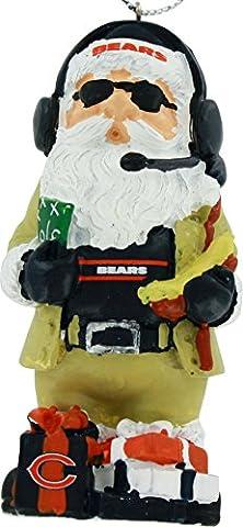 Chicago Bears Thematic Santa Resin Christmas Tree Ornament - Chicago Bears Christmas Ornament