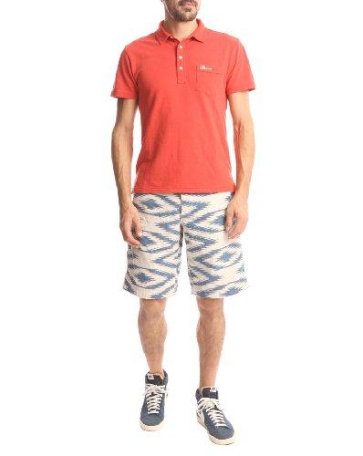 DENIM&SUPPLY Herren Polo-Shirt Polo-Shirt Baumwolle T-Shirt Unifarben, Größe: M, Farbe: Rot