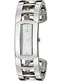 Women's K3Y2S11T Dress Mother of Pearl Dial Stainless Steel Cuff Swiss Quartz Watch
