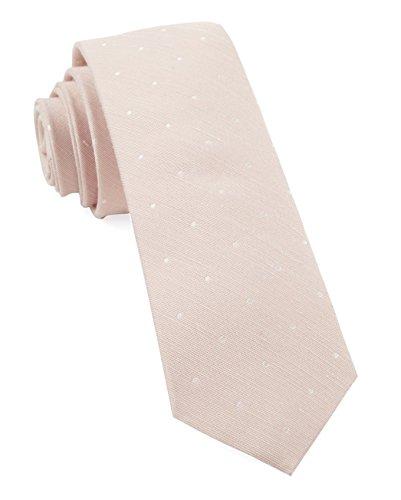 The Tie Bar Linen Blend Bulletin Dot Blush Pink Skinny Tie Blend Tie
