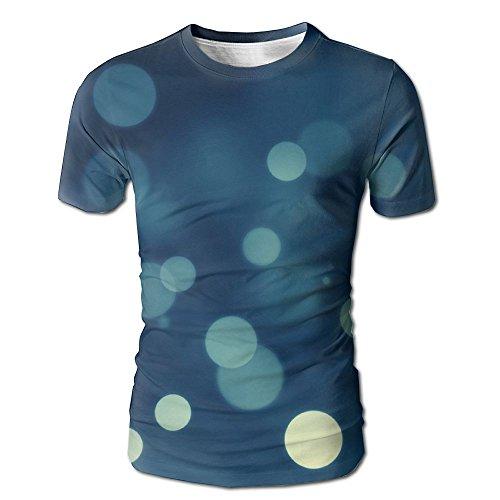 Worksheet Magic (Wild Beast Men Graphic Fashion Blue Bubbles Pattern Short O-Neck Tee M)