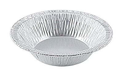 "Small Mini Aluminum Foil Disposable Baking Tart pans - 3 3/8"" Pie Tins for Hot and Cold Foods Made in USA (Pack of 100)"