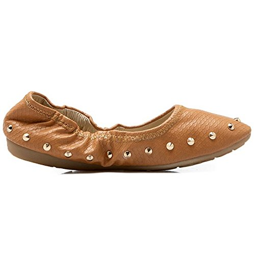 COOLCEPT Damen ohne Verschluss Pumps Light Brown