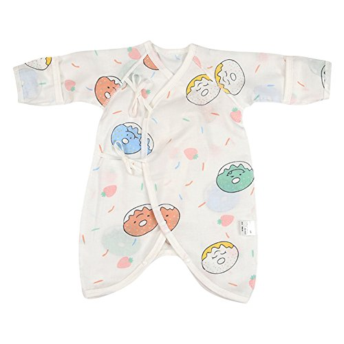 - Fairy Baby Newborn Baby Clothes Japanese Kimono Gown Organic Cotton Floral Romper Pajamas Size 0-3M (D)