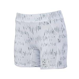 Mizuno Adult Women's Fastpitch Softball Nighthawk Sliding Shorts, White, Small