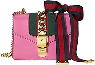 5d54adfcd943c5 New Gucci Pink Sylvie Mini Chain Bag: Amazon.co.uk: Shoes & Bags