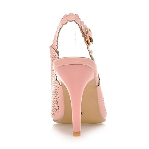 Coolcept Mujer Puntiagudo Pumps Zapatos Pink-61