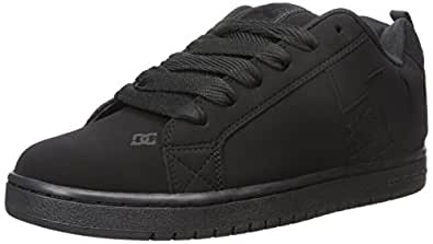 DC Men's Court Graffik Sneaker,Black/Black/Black,3 M US