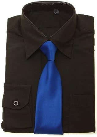 Camiseta Royal corbata azul para niño negro: Amazon.es: Ropa y ...