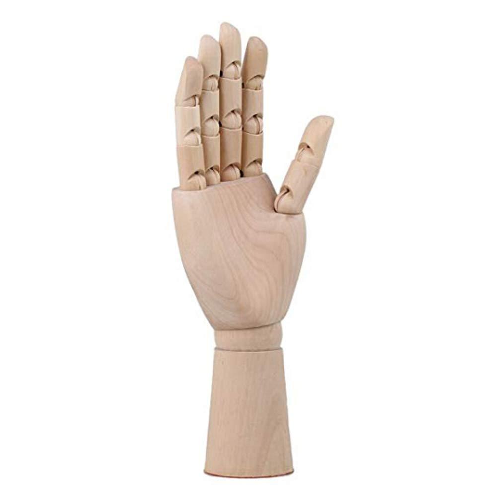 L-DiscountStore Art Dessin en Bois 30,5/cm articul/é articul/é Flexible /à la Main Mannequin Main Droite
