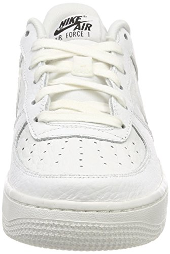 Nike Air Force 1 Lv8 (GS), Sneakers Basses Mixte Enfant Blanc (Summit White/Summit White-black 106)