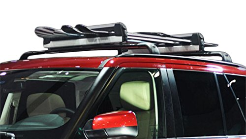 Ace Trades Car Roof Ski Rack 4 Pair Skis or 2 Snowboards