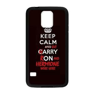 Keep Clam Series Funny Special Custom Luxury Cover Case For Samsung GALAXY S5(Black) ! yiuning's case wangjiang maoyi