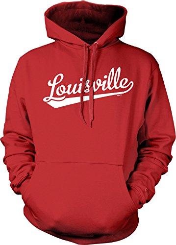 NOFO Clothing Co Louisville Script Baseball Font Hooded Sweatshirt, XXL ()