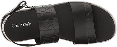 Calvin Klein Men's Dex Ck Emboss Leather Dress Sandal