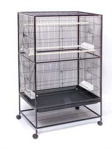 Prevue Pet Products Wrought Iron Flight Cage with Stand F040 Black Bird Cage, 31-Inch by 20-1/2-Inch by 53-Inch, My Pet Supplies
