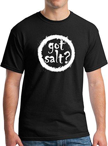 Paranormal T Got Salt T-Shirt Supernatural TV Show Wayward Son Horror Tee Black L -