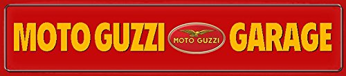 Moto Guzzi Garage Strassenschild Motorrad scudo in latta, Metal Sign, Tin 46x 10cm ComCard