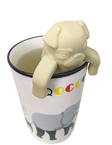 QOCOO Pack of 2 Dog shape Loose Leaf Food-Grade Silicone Tea Infuser Strainers Filter for Black Tea, Green Tea, Scented Tea,Loose Tea and Bagged Tea (Hello Kitty Glass Pitcher compare prices)