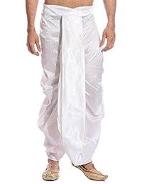 Men's Art Silk Fine Quality Ready to Wear Free Size Dhoti Pant's