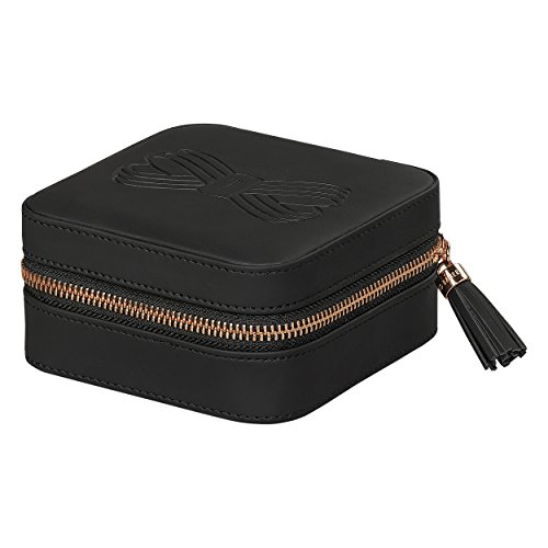 Ted Baker Jewelry Case with Gold Tassel Zipper Black Travel and Storage from Ted Baker