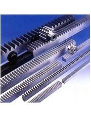 Yadianna 2pcs/lot 1Mod 1 Modulus High Precision Gear Rack Steel 10 * 10 * 500mm + 2pcs 1M 17teeth Pinion