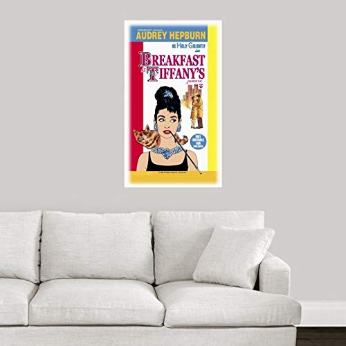 Amazon.com: CANVAS ON DEMAND Wall Peel Wall Art Print Entitled Audrey Hepburn Breakfast Tiffanys 1 41