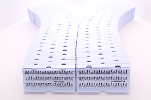 Cherishlook Professional 100packs Eyelashes - Flare Medium Black by Cherishlook