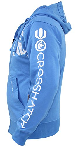 Crosshatch Doux Zip Imprimer Hoodie Logo Hommes Broderie Daphne Nouveau Top aF4arI6