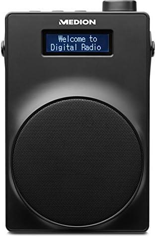 Radio PLL UKW, 1,8 Zoll Display, Akku, Teleskopantenne, Kopfh/öreranschluss, USB Ladeanschluss, 30 Watt MEDION E66880 DAB blau