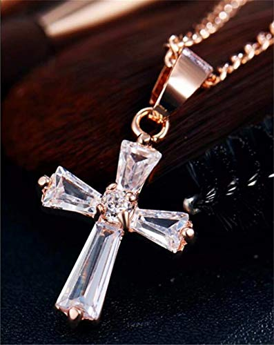 CARDEON Cross Pendant Necklace for Women Simple Cross Necklaces Jewelry Valentine Birthday Gifts for Women