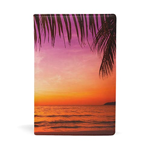 (A5 Book Covers for Paperbacks Palm Sunset Notebook Covering School Educational Supplies Office Products)