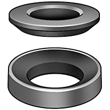 Morton Stainless Steel Spherical Washer Sets Inch Size Equalizing Washers 3//8 Bolt Size