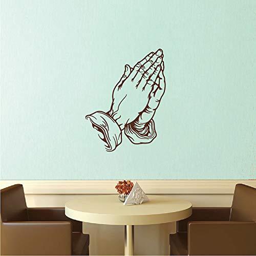 BYRON HOYLE Praying Hands Wall Decal, Praying Wall Decal, Spiritual Hands Wall Decal, Removable Praying Hands Wall Decal, Praying Hands Wall Vinyl, b11