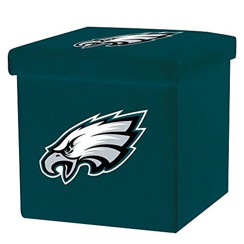 Franklin Sports NFL Philadelphia Eagles Storage Ottoman with Detachable Lid 14 x 14 x 14 - Inch ()