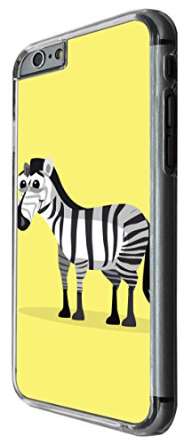 1162 - Cute Fun Zebra Animal Drawing Yellow Design For iphone 5C Fashion Trend CASE Back COVER Plastic&Thin Metal -Clear