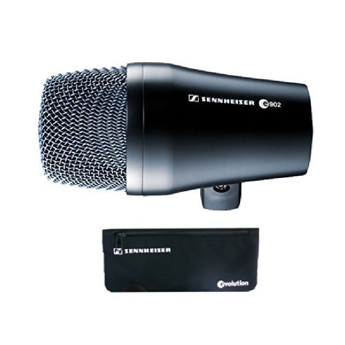 Sennheiser E902 Kick Drum Bass Dynamic Microphone with Stand and Cable Bundle by Sennheiser