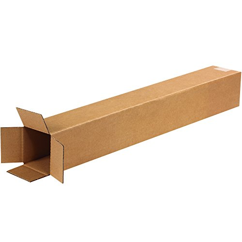 BOX USA B4428100PK Tall Corrugated Boxes, 4'' L x 4'' W x 28'' H, Kraft (Pack of 100) by BOX USA